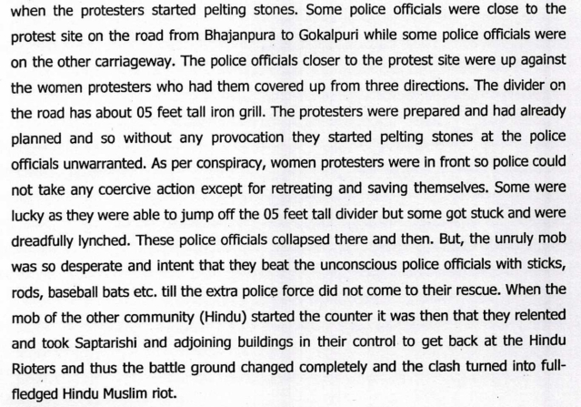 "Muslim Mob Used Women As ""Human Shields"" To Lynch Cops As Part Of Pre-Planned Conspiracy, Delhi Riots Chargesheet Says"