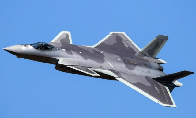 China's  J-20 stealth fighter.