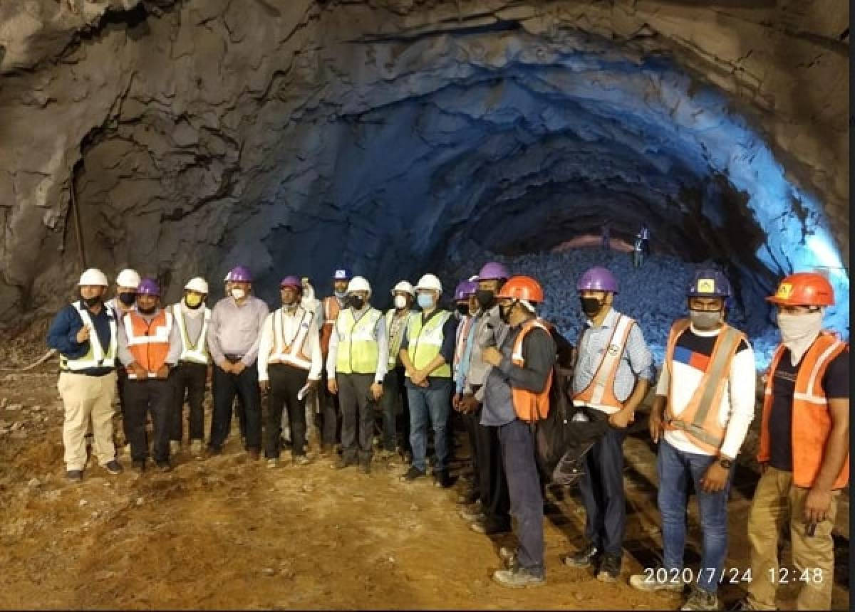 Caving Work On World's First Rail Tunnel For Double-Stack Electric ...