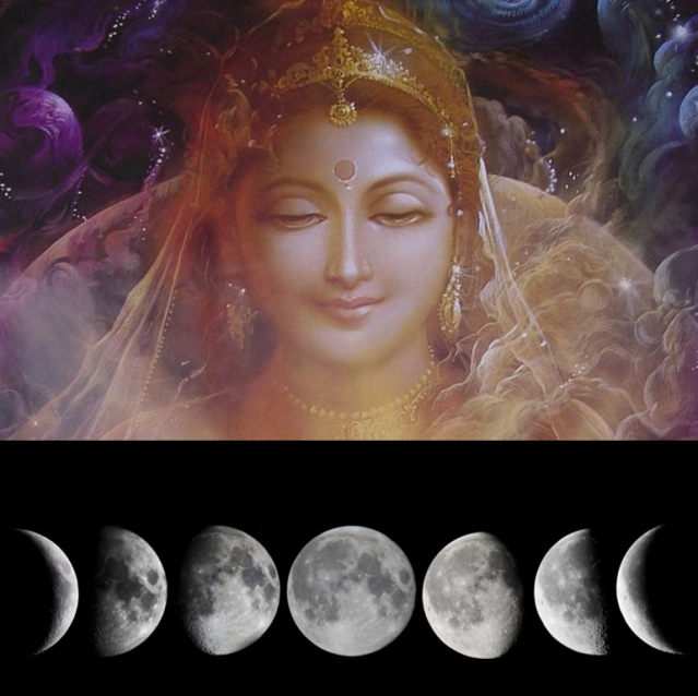 Random Meditations Through Her 1000 Names (15 and 16): Crescent And The Full Moon