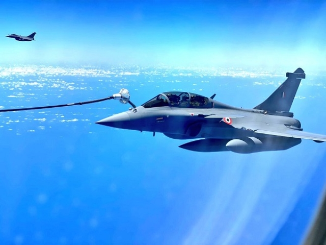 In Pictures: IAF's Rafales Undergo Mid-Air Refuelling Over The Mediterranean Sea While On Route To India