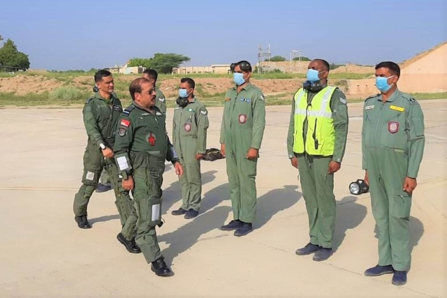 Air Chief Marshal R K S Bhadauria Visits Frontline Air Base In Western Command, Reviews IAF's Operational Readiness