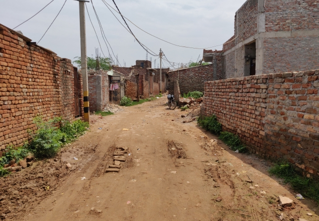 A view of the Pakistani mohalla in Delhi's Asola Bhati Mines area