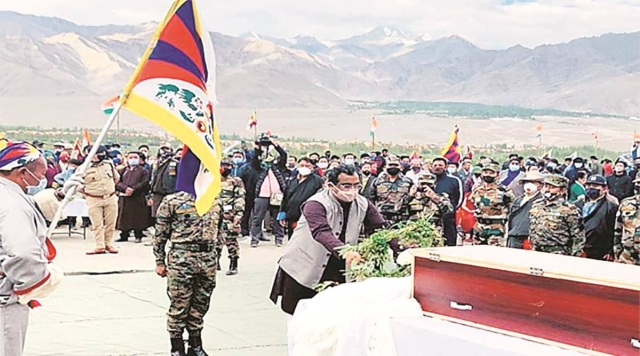In Clear Message To China, BJP General Secretary Ram Madhav Attends Funeral Of SFF's Tibetan Hero Nyima Tenzin