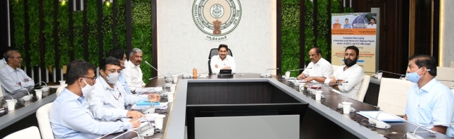 Andhra Pradesh CM Y S Jaganmohan Reddy with his team.
