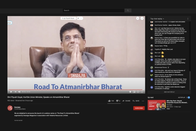 Full Video: Keynote Address By Piyush Goyal  On 'The Vision And Philosophy Of AatmaNirbhar Bharat'