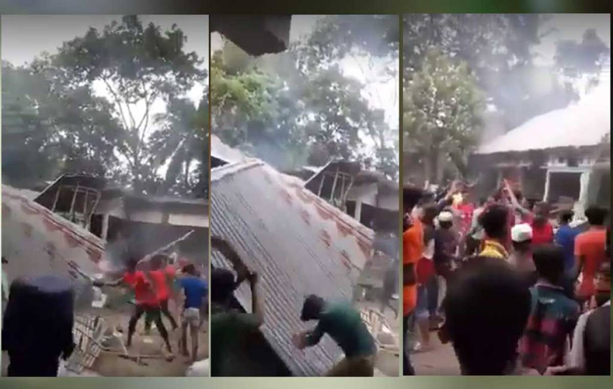 Hindu families have been vandalised and burned by radical Islamic in Bangladesh