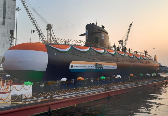 Indian Navy's Fifth Scorpene-Class Submarine, INS Vagir, Launched; Two  Other Submarines In Sea Trials To