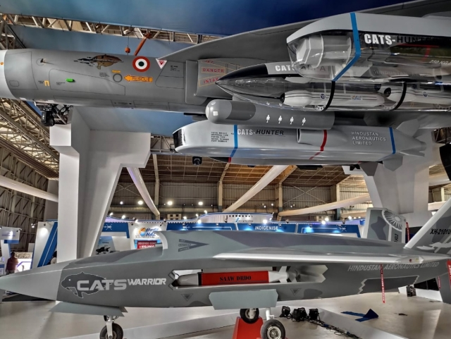 India's New 'Warrior' Drone, Part Of Combat Air Teaming System Being Developed By HAL, Revealed At Aero India