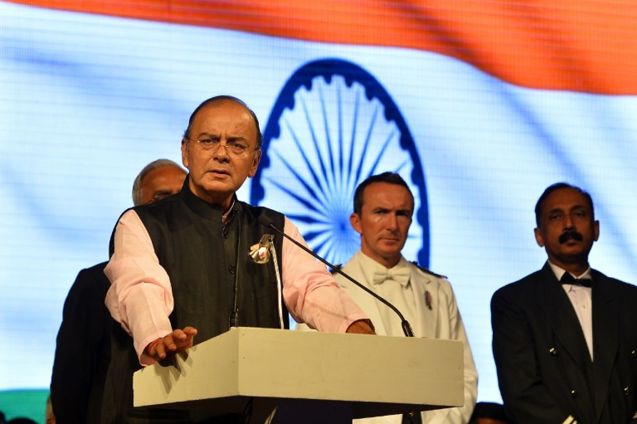 Arun Jaitley addressing a meeting. (GettyImages)