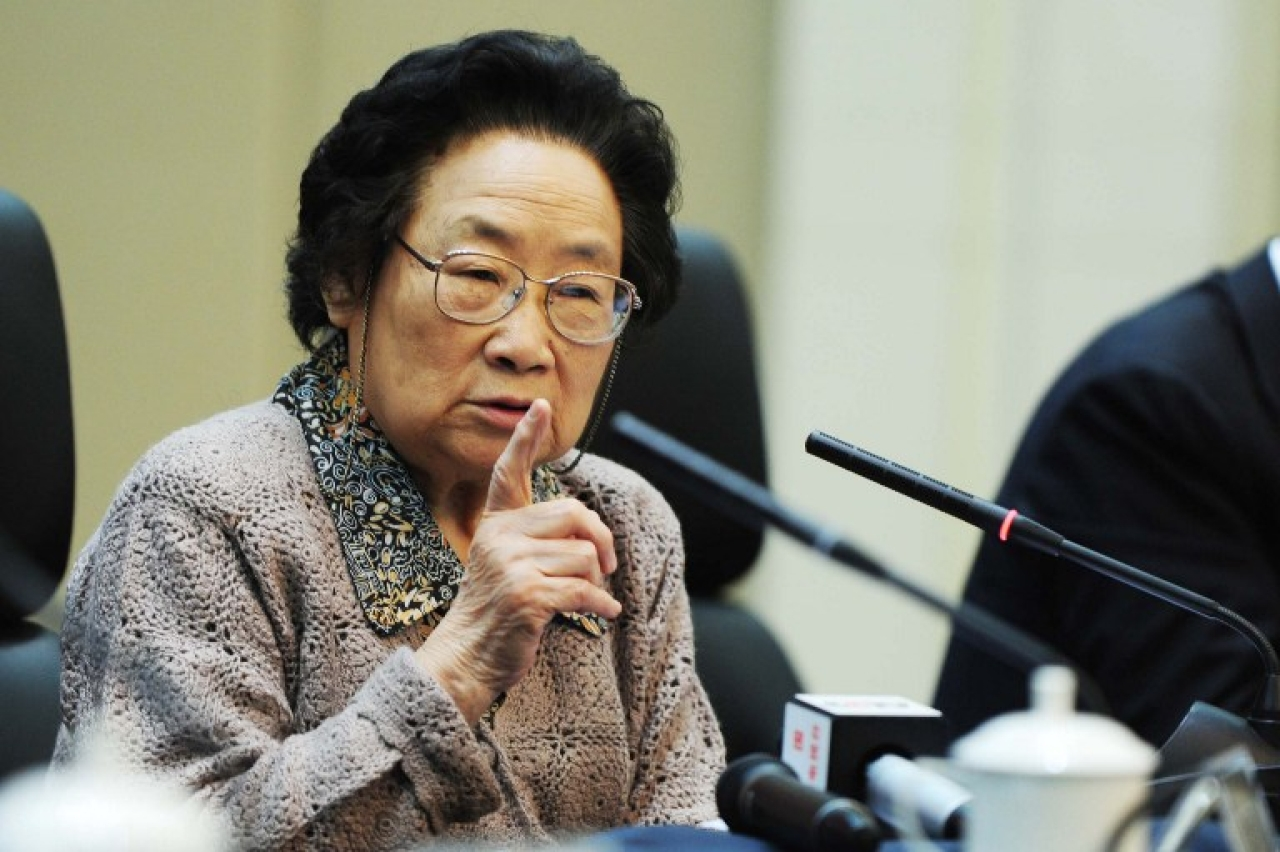Tu Youyou, the first Chinese woman to win a Nobel prize for medicine. CHINA OUT AFP PHOTO