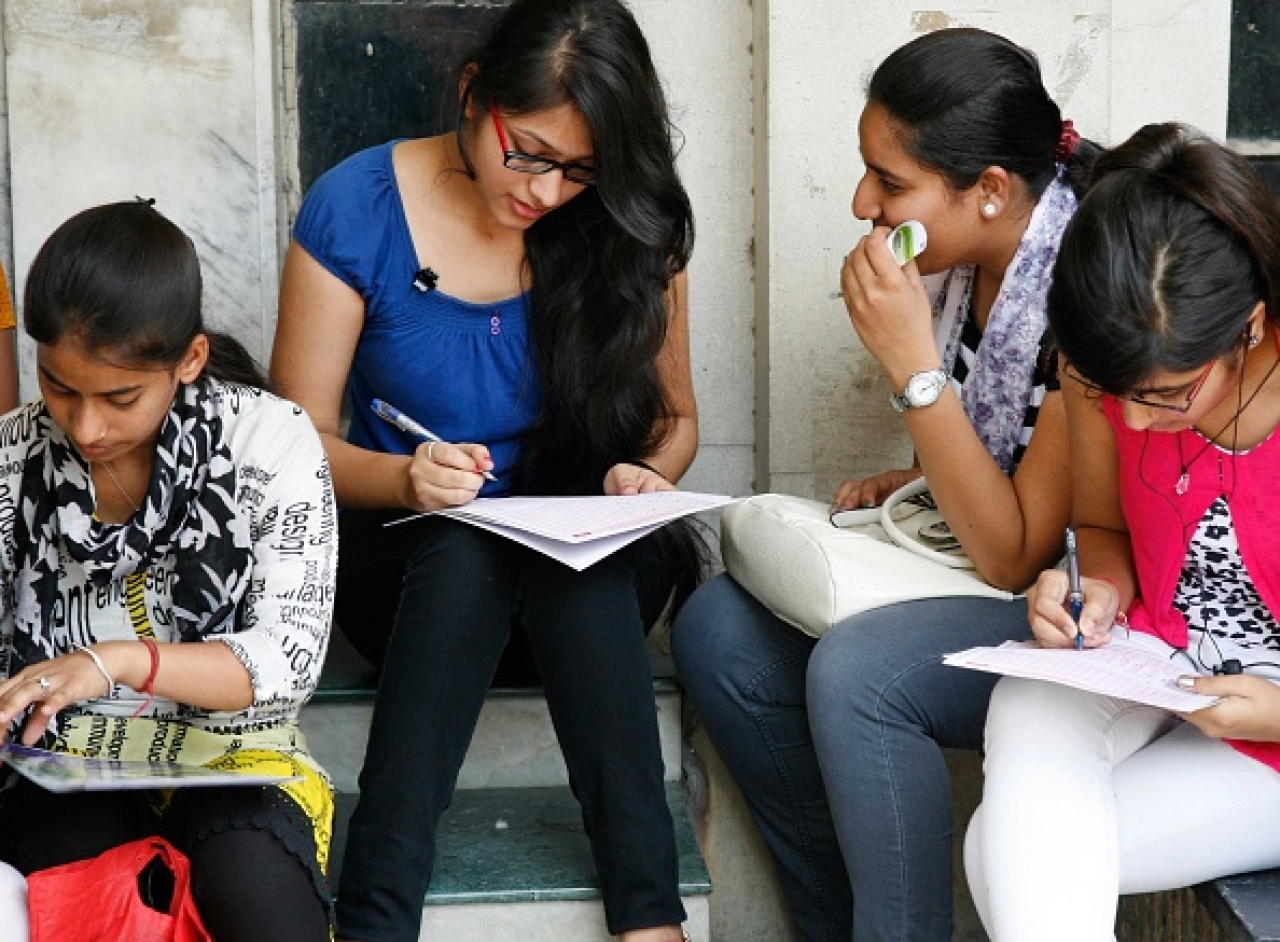 Students at Delhi University/Getty Images