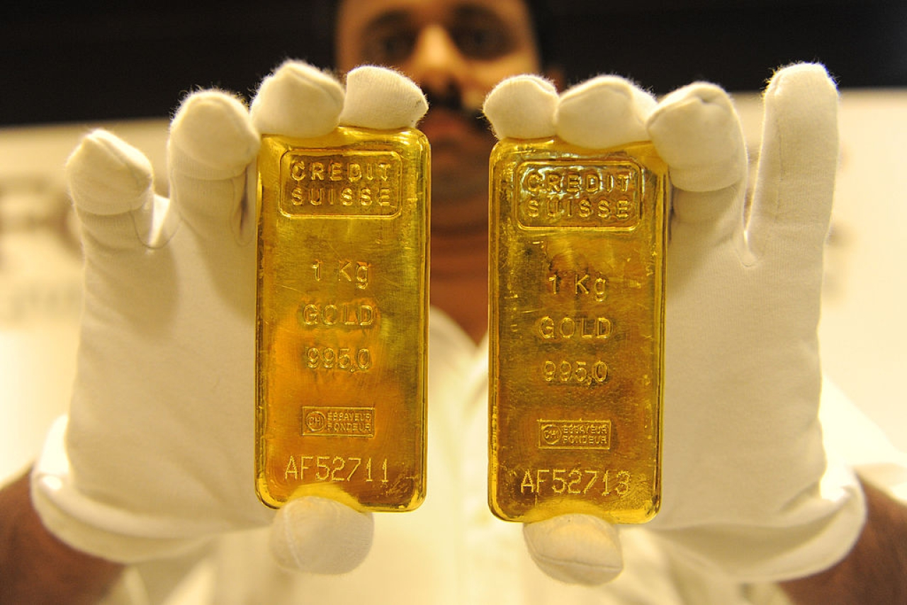 Gold bars, India (SAM PANTHAKY/AFP/Getty Images)