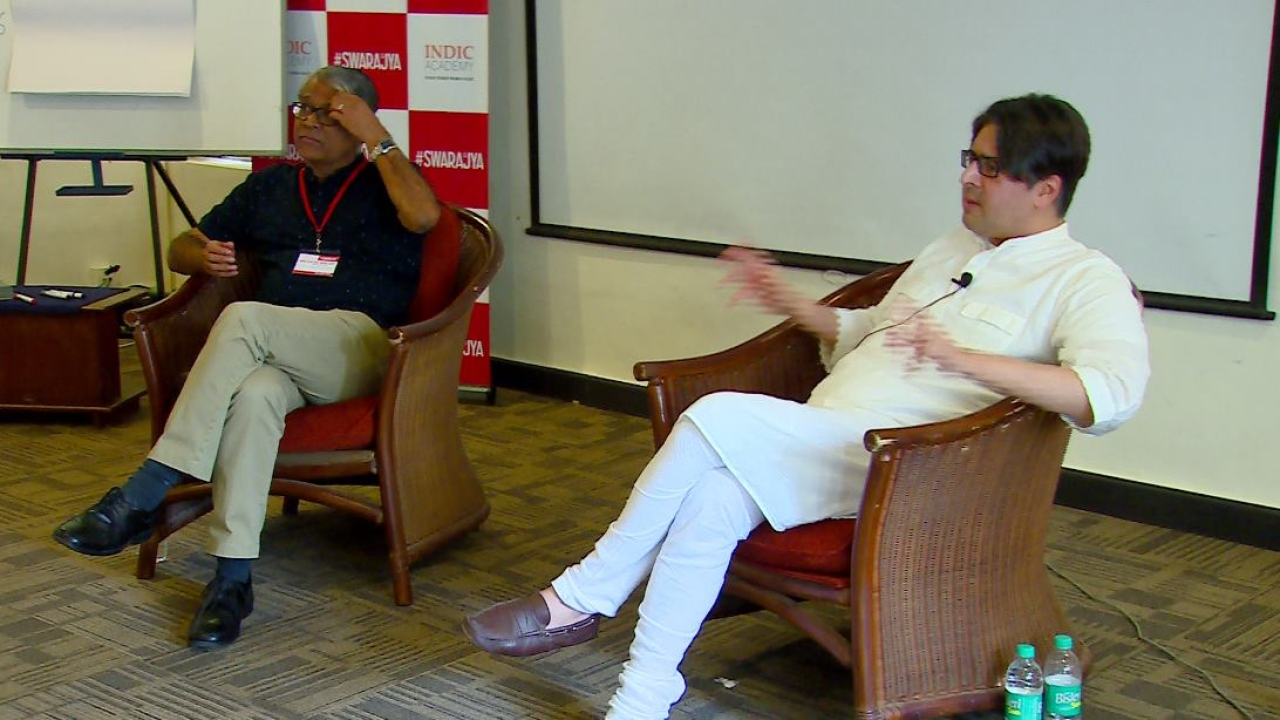 Vivek Dehejia during a panel discussion