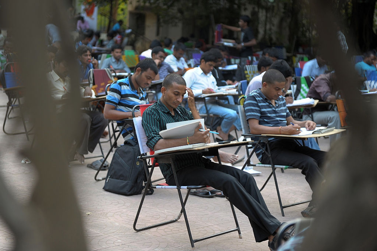 India students examination (NOAH SEELAM/AFP/Getty Images)