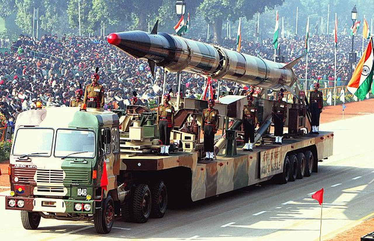 India displays its military might during Republic Day parade. (GettyImages)
