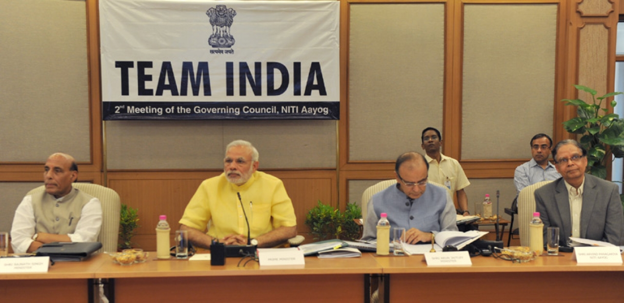 A meeting of the NITI Aayog