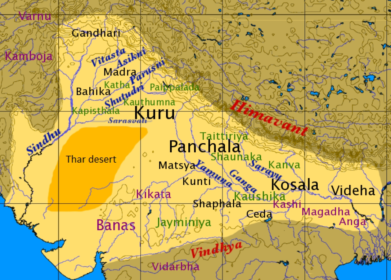 Rivers during the Vedic age.