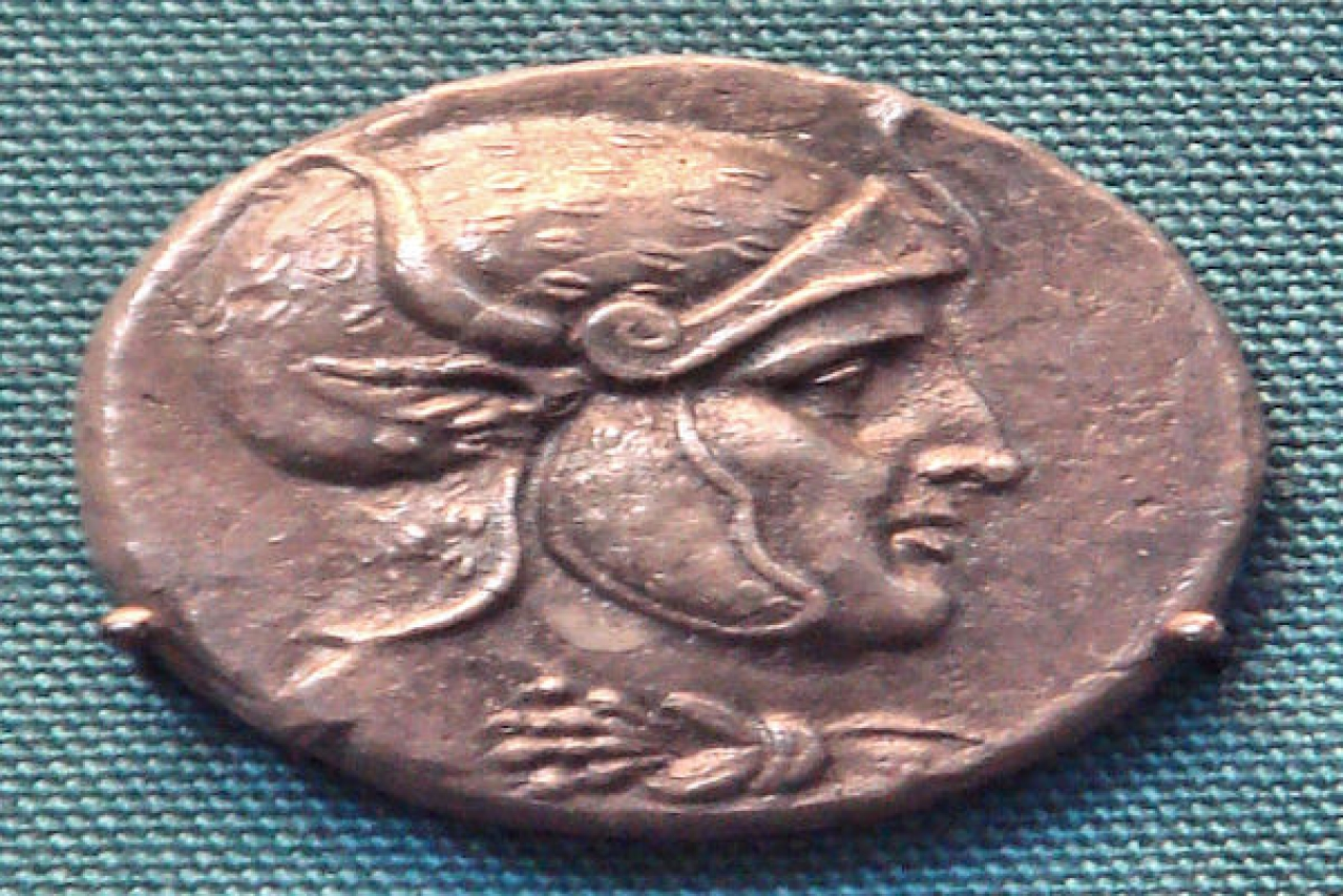 Silver coin of Seleucus I Nicator, who fought Chandragupta Maurya, and later made an alliance with him/PHGCOM/Wikimedia Commons