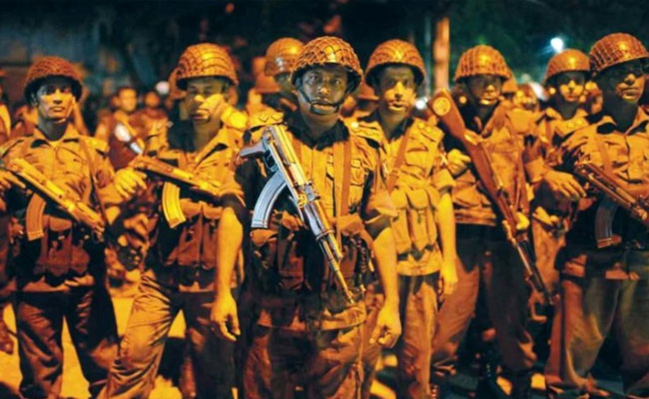 Paramilitary forces in Dhaka