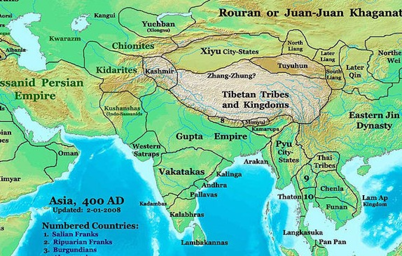 The Gupta Empire. Photo credit: WikiMedia Commons