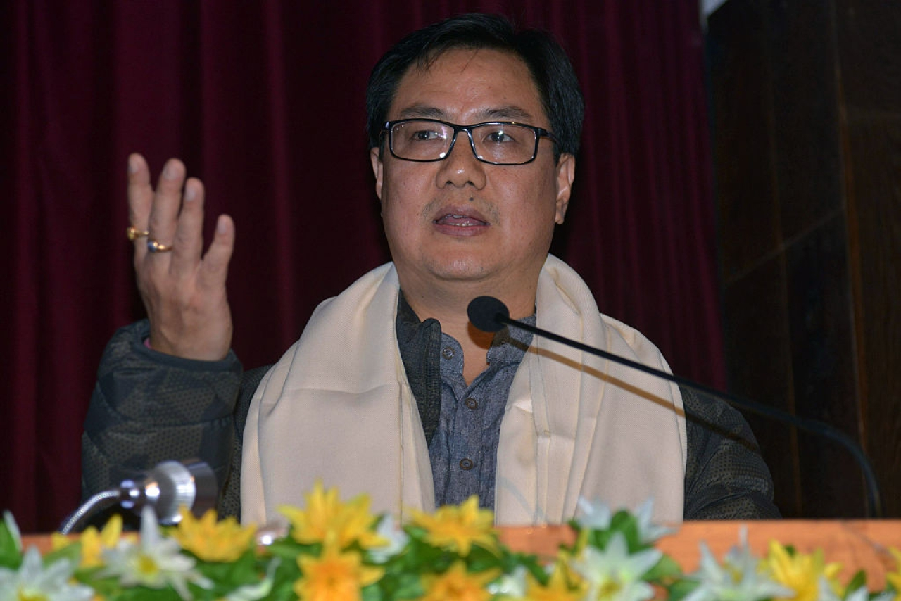 Kiran Rijiju, Minister of State (Independent Charge) for Youth Affairs and Sports.