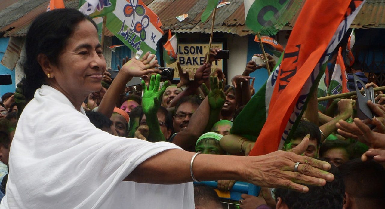 Mamata Banerjee, the chief minister of West Bengal and head of the Trinamool Congress (DIBYANGSHU SARKAR/AFP/Getty Images)