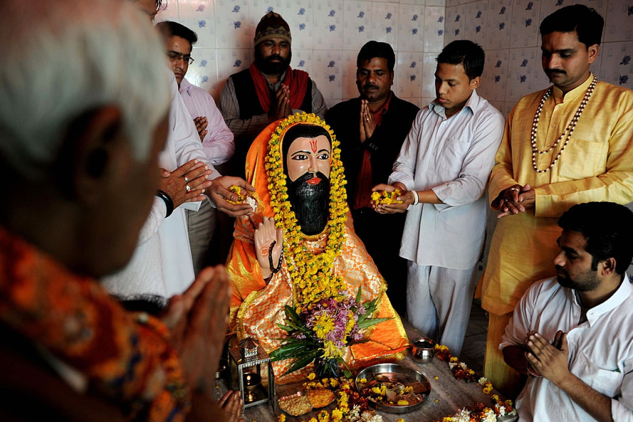 Guru Ravidas worship (NARINDER NANU/AFP/Getty Images)