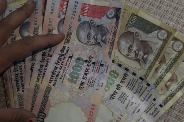 The Rs 500 and Rs 1,000 notes withdrawn from circulation.