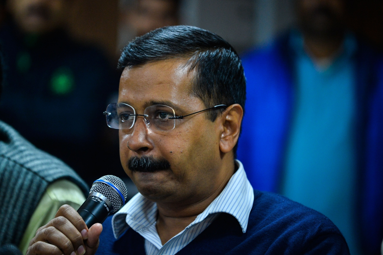 Arvind Kejriwal at a Press Briefing for Odd-Even (CHANDAN KHANNA/AFP/Getty Images)