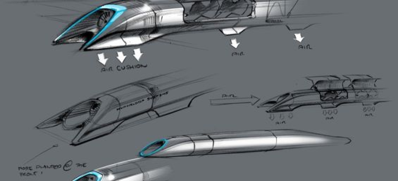 Hyperloop Sketch by SpaceX