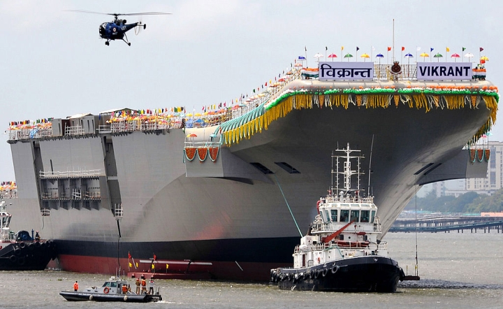 Indian Navy's First Indigenous Aircraft Carrier INS Vikrant Gets Made-In-India Combat Management System