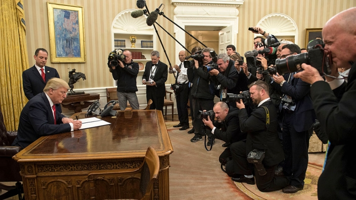 On Day One, President Trump Signs First Executive Order On Obamacare