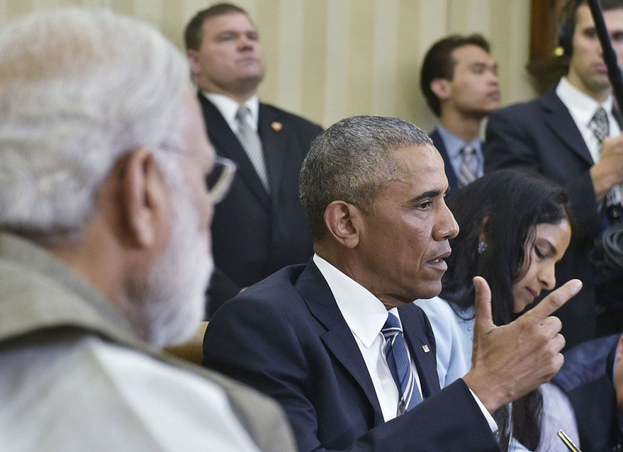 Barack Obama and Narendra Modi at the White House (MANDEL NGAN/AFP/Getty Images)