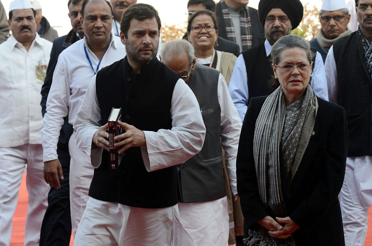 Congress Party is opposed to the amendments proposed to the Enemy Property Act. (MONEY SHARMA/AFP/Getty Images)