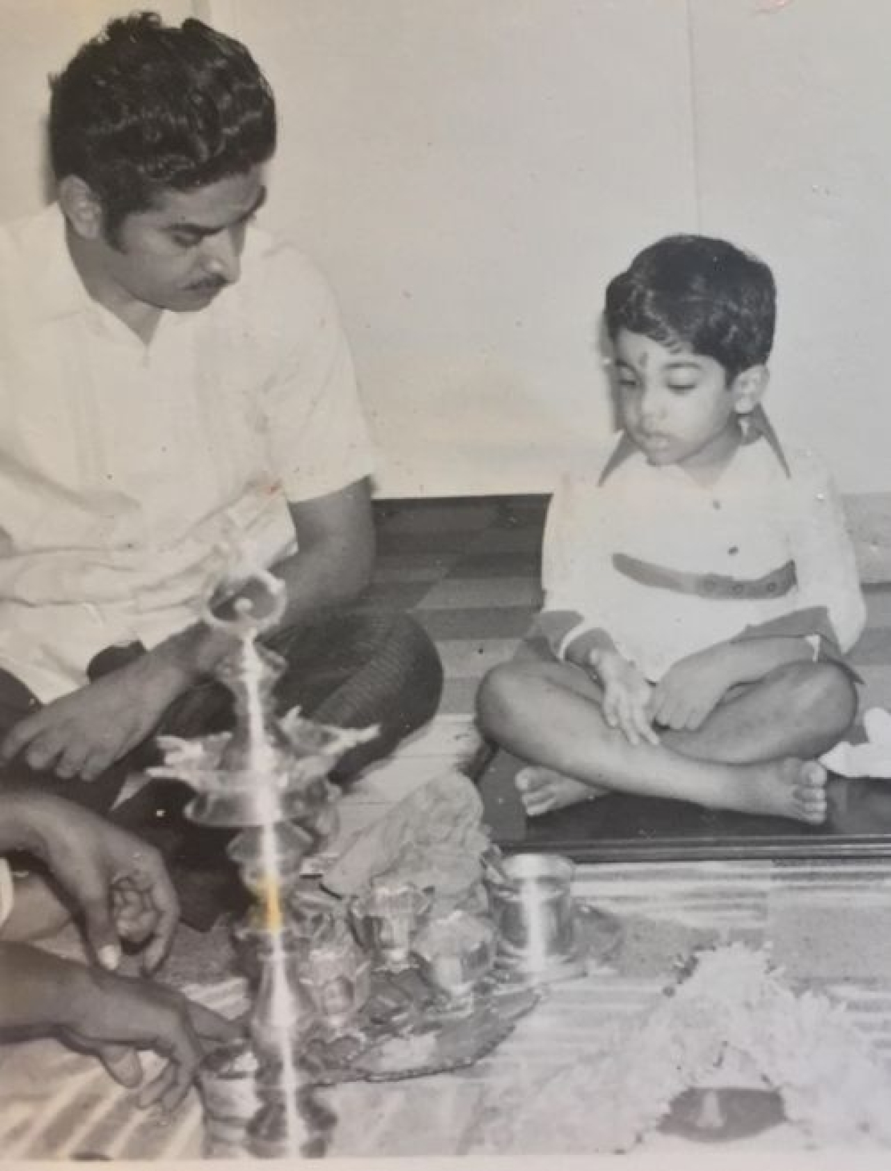 The author with his father.
