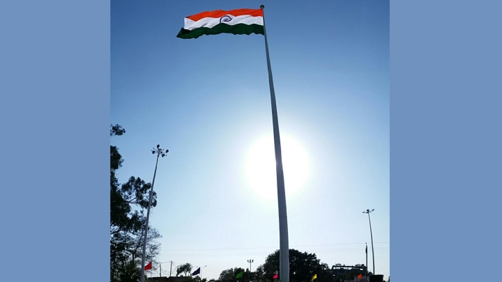 India's Tallest Tricolour,  High Enough To Be Seen From Lahore,   Hoisted At  Attari-Wagah   Border