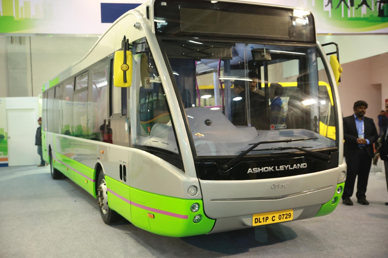 An electric bus from Ashok Leyland (Image credit: AutoCarPro)