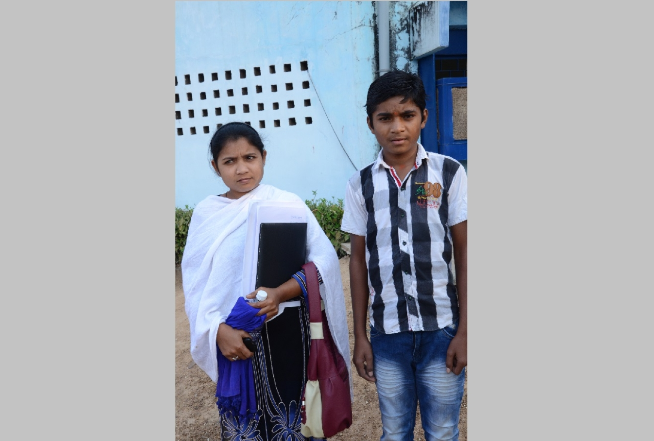 "Ganesh Kumar Wasan with his elder sister Rina. Ganesh wants to become an IAF fighter pilot and ""drop bombs"" on the Maoists"