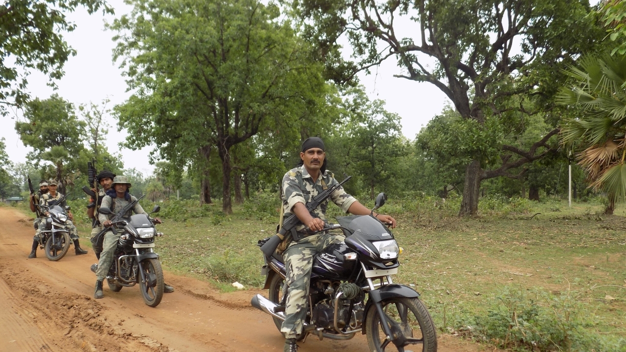 CRPF personnel on patrolling duty at Sukma's Dornapal area where Monday afternoon's ambush took place