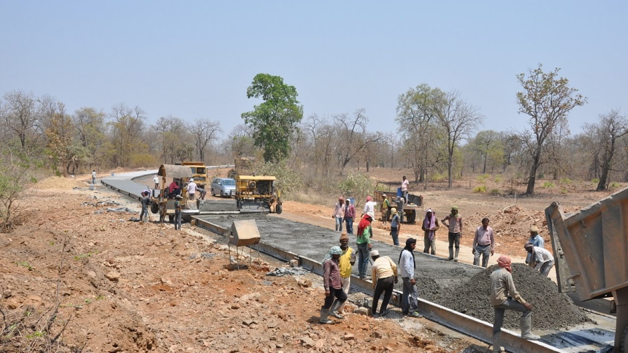 The Injeram-Bhejji road under construction. It was while patrolling along this road under construction that 25 CRPF men were killed in an ambush by Maoists