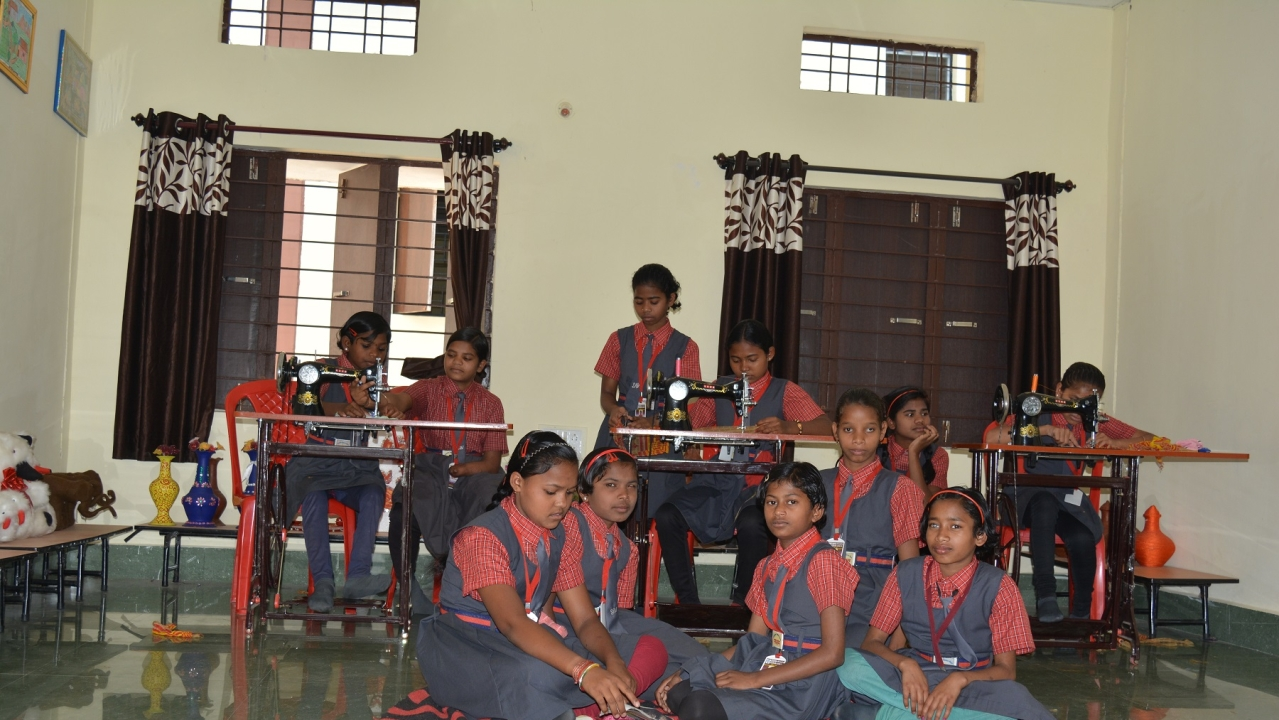 Physically challenged girls at Saksham Awasi Vidyalaya in Dantewada