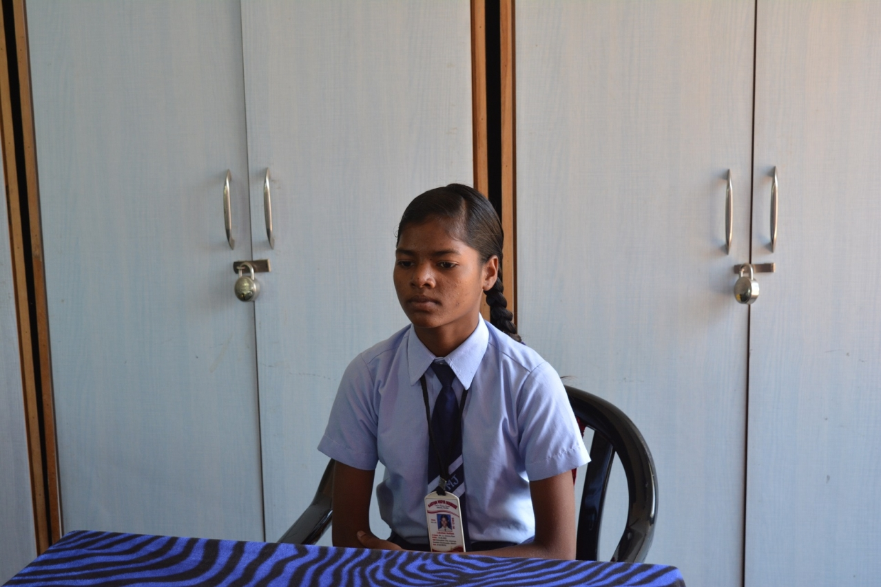 Lakshmi Katlam, whose parnets were killed by Maoists, studies at Aastha Vidya Mandir and wants to become a doctor