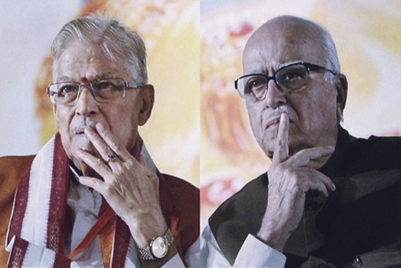 Murli Manohar Joshi and L K Advani.