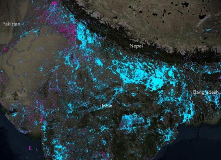 Night-Time Map Released By 'National Geographic' Shows The Success Of India's Rural Electrification Project