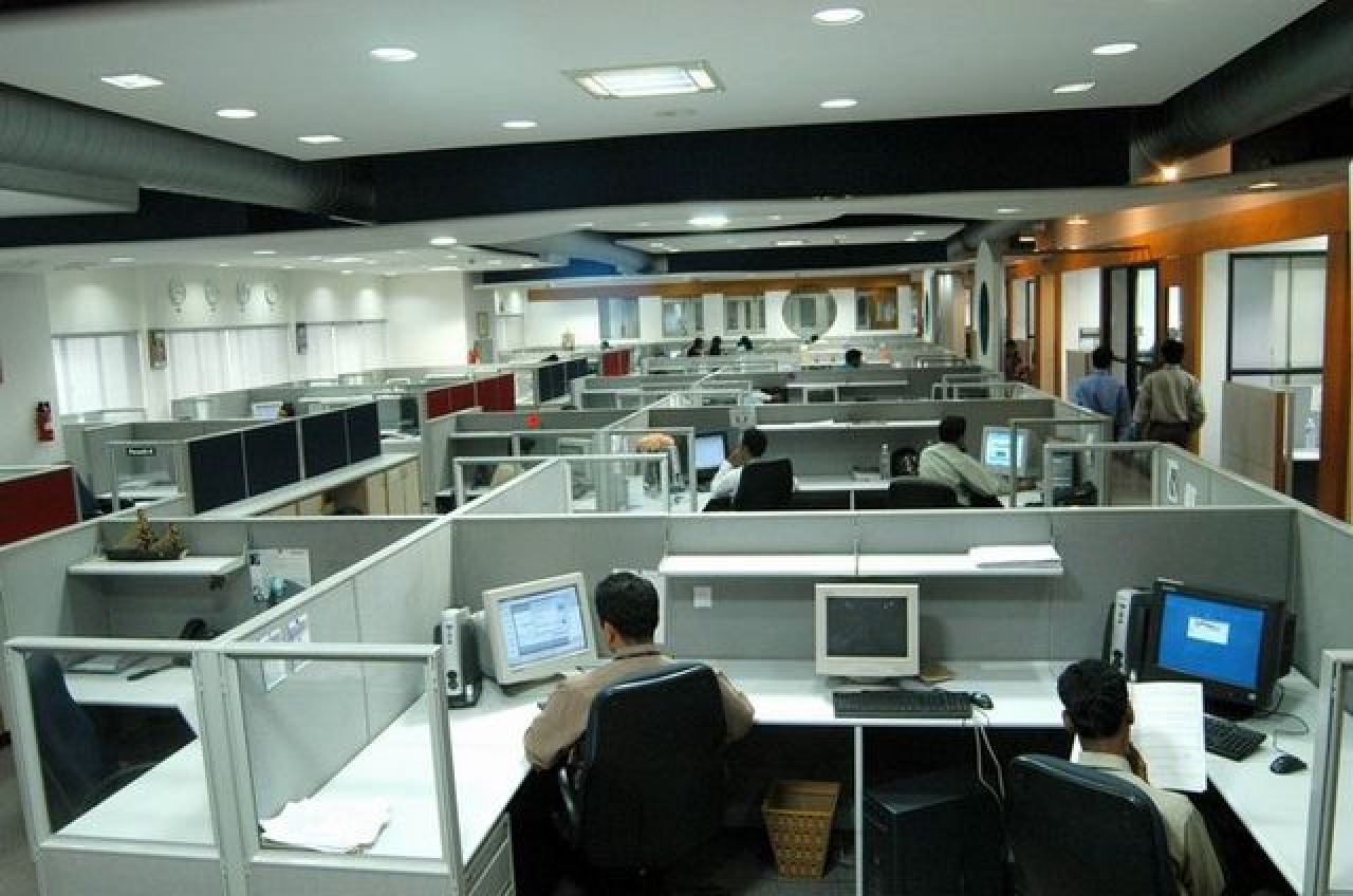Interior of a software company in Technopark at Trivandrum.