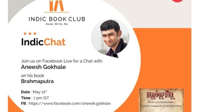IndicChat With Aneesh Gokhale On His Book 'Brahmaputra' This Sunday