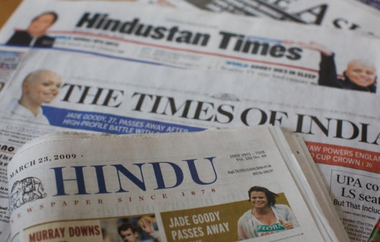 Representational image: popular Indian newspapers (Daniel Berehulak/Getty Images)