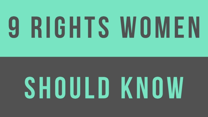 Watch: 9 Rights Women Should Know