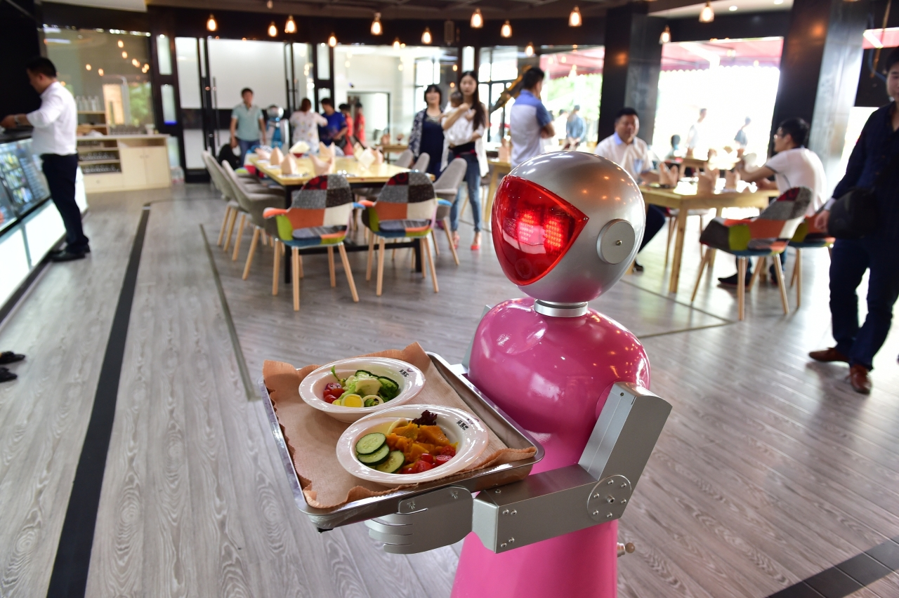 A Robot Waiter (VCG / Stringer/ Getty Images)